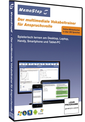 Picture of 1 Monat Lernsoftware und Prüfungstrainer MemoStep6 Premium