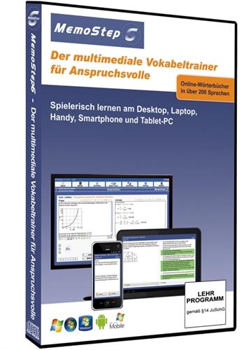Picture of 6 Monate Lernsoftware und Prüfungstrainer MemoStep6 Premium