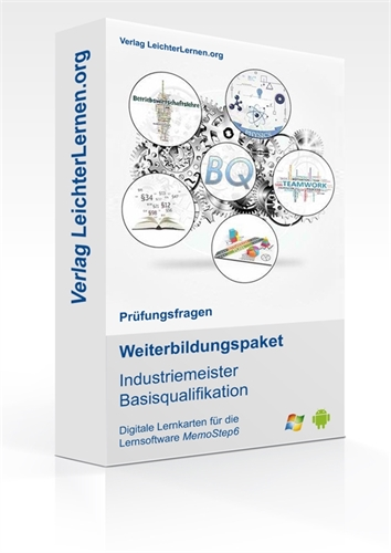 Picture of Prüfungsfragen zum IHK Industriemeister Basisqualifikation auf digitalen Lernkarten